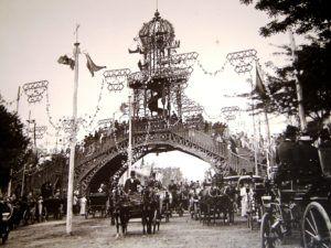 Fotografía original de la antigua feria de abril de Sevilla (entre 1896 y 1921)